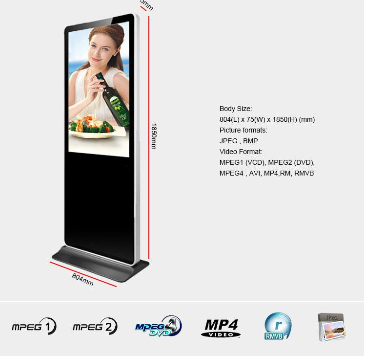 55 Inch Promotional Display Advertising Marketing