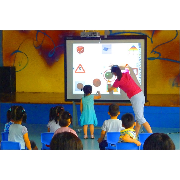 Interactive flat panel display photos