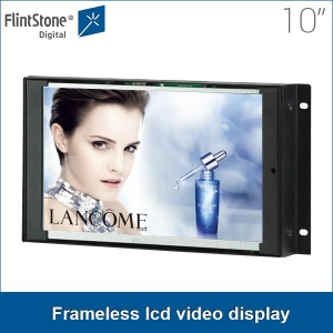 10 inch metal casing lcd screen auto loop playing embedded frameless lcd video display, flexible use play from sd card
