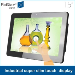 15 inch Android/Windows OS all in one touch screen lcd advertising display, digital signage screens