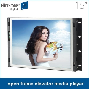 15 Inch Screen Automatically Play Elevator Advertising