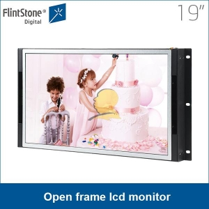 "19"" indoor advertising screen,frameless lcd advertising display, electronic advertising board"