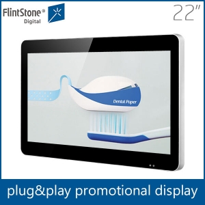 22 inch plug and play auto loop video screens for POS/POP promotion
