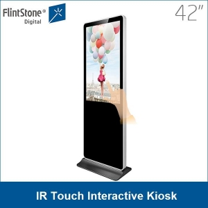 "42"" floor standing Android network infrared IR 10 point touch screen display kiosk"