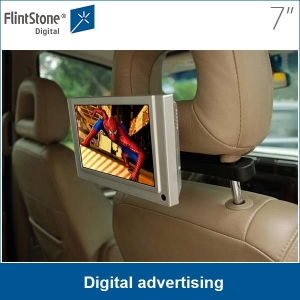 "7"" LCD advertising display installed onto taxis for promotion"