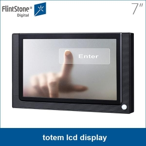 7 inch lcd touch screen kiosk totem lcd display, Industrial grade design touch screen display