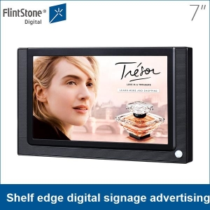 7 inch shelf mounting small digital advertising screen for promotion, POS promotional auto play lcd media player