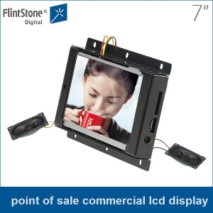 7 inch with no frame point of sale commercial lcd display