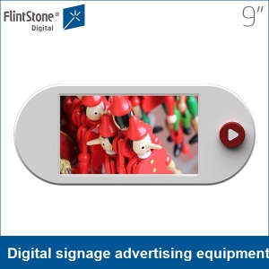 9 inch full color hd battery powered LCD digital signage advertising equipment
