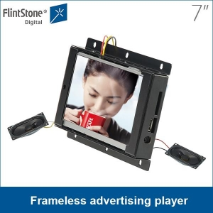 China supplier 7 inch open frame metal casing loop playing heavy duty build lcd displays