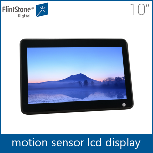 Point of sale promotional 10 inch motion activated lcd video player