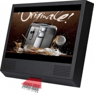 China 10 inch bar code scan lcd advertising screen, lcd video player, lcd ads monitor-Fabrik