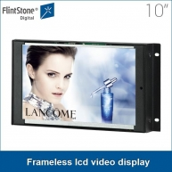 China 10 inch metal casing lcd screen auto loop playing embedded frameless lcd video display, flexible use play from sd card factory