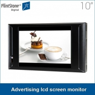 China 10 inch plastic casing lcd screen shelf mounted theft protection time function advertising lcd screen monitor in retail stores for video promotions factory