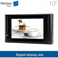 China 10 inch plastic casing screen and anti-theft device ,time function, supermarket video advertising player factory