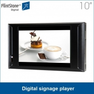 "China 10"" merchandising equipment shelf / wall mounting lcd advertising screen for branding, indoor loop-play digital signage china factory"