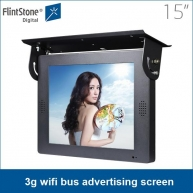 "China 15"" LCD 3g wifi bus advertising screen, digital advertising screens, hanging LCD advertising tv screens factory"