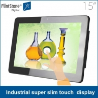 中国15 inch Android/Windows OS all in one touch screen lcd advertising display, digital signage screens工場