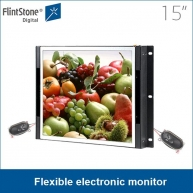 China 15 inch high color gamut open frame flexible electronic monitor factory