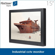 China 15 inch industrial cctv monitor, LCD screen display factory