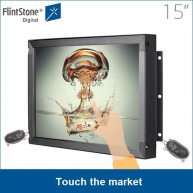 China 15 inch touch screen industrial commercial display auto-playing 24/7/365 factory
