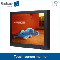 China 15 inch touch screen monitor advertisement screen factory