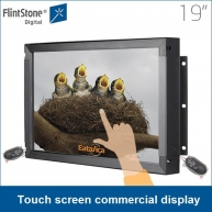 China 19 inch industrial touch screen commercial display digital signage advertising player 24/7/365 factory