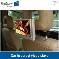 China 7 inch videospeler voor taxi / auto, pos video display auto hoofdsteun dvd video player fabriek