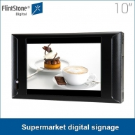 China Best selling 10 inch plastic casing usb updated store shelf easy to use and install supermarket digital signage for video promotion factory