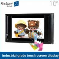 China Flintstone 10 inch video monitor with composite video input Industrial grade design touch screen display factory