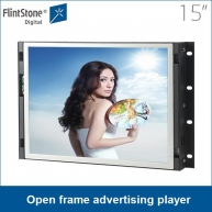 China Flintstone 15 Zoll Open Frame-Struktur-Werbung-Player-Fabrik