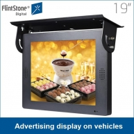 China Flintstone LCD advertising display attached to vehicles for promotion factory