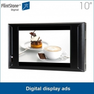 China Hot selling 10 inch AD1005WP plastic casing play from sd/cf card supermarket store shelf mounted digital display ads factory