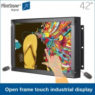 China frameloze monitor, panel mount monitor, groot touchscreen fabriek