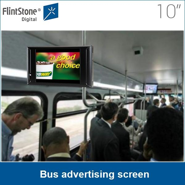 10 Inch LCD Advertising Display TV LCD Cab Car Taxi Bus