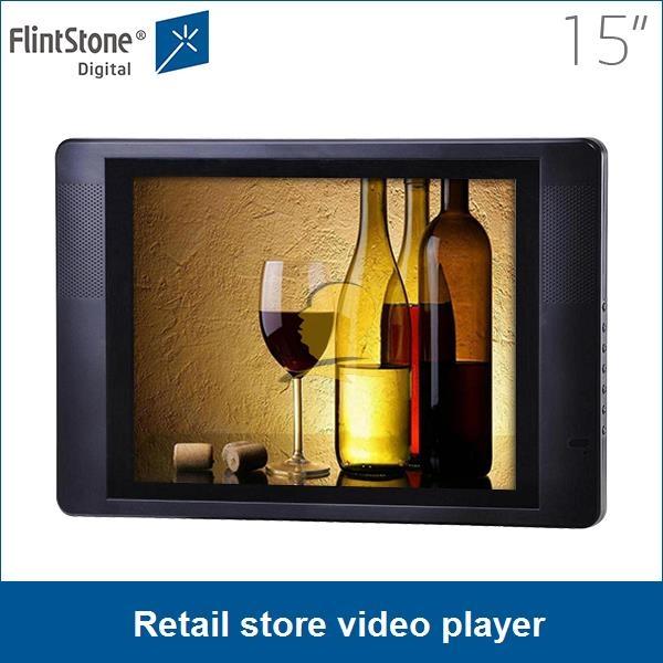 15 inch digital advertising display,media digital signage, lcd