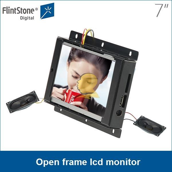 Monitor del marco abierto lcd de 7 pulgadas, reproductor de ...