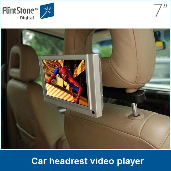 7 Inch Video Player For Taxi Car Pos Display Headrest Dvd