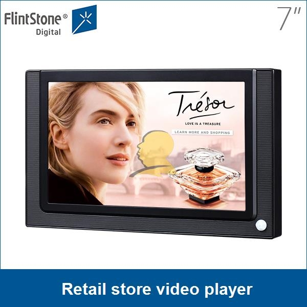 7 lcd in store display screenretail store video player mini ad player
