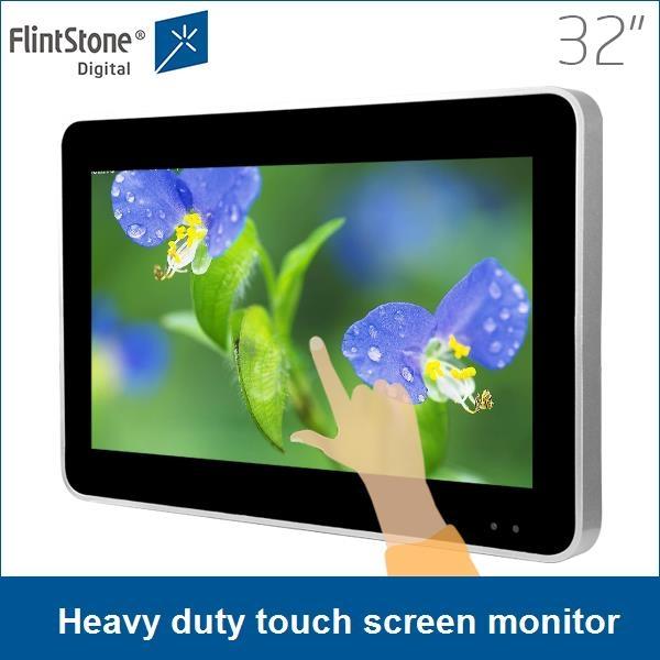 quiosco de señalización digital, pantalla táctil tótem, mostrar ...